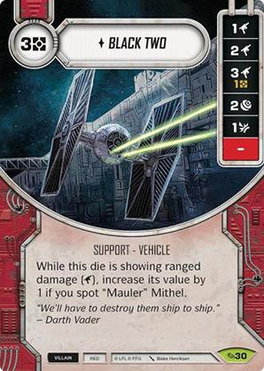 Star Wars Destiny Across the Galaxy Black Two #30 Rare w// Die