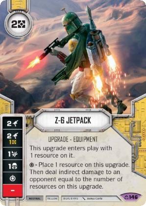 Card /& Die #146 Z-6 JETPACK Star Wars Destiny Covert Missions